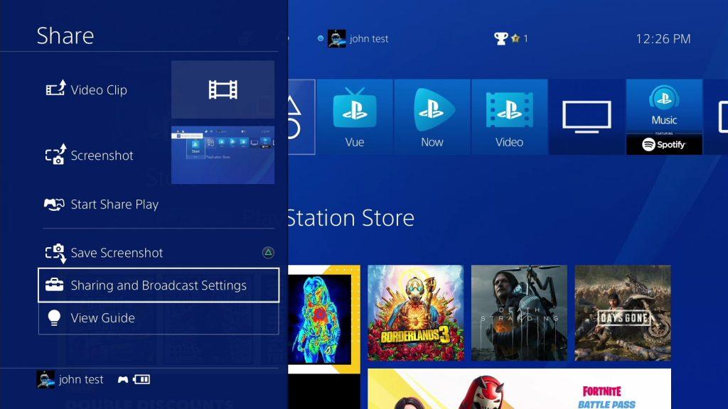 PS4 Stream Settings