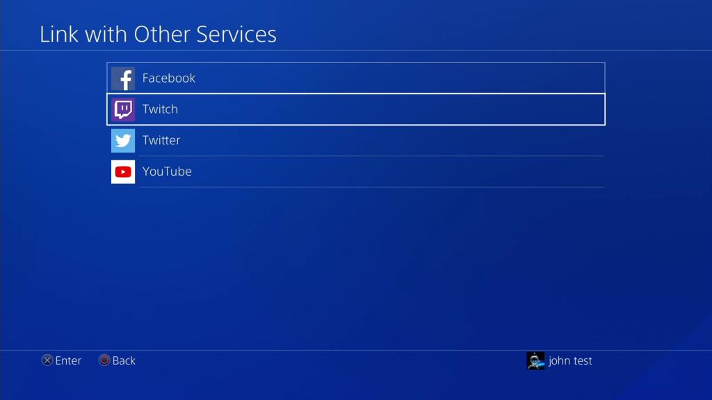 Linke PS4 to Twitch