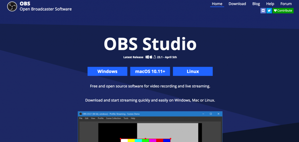 Download OBS Studio on PC